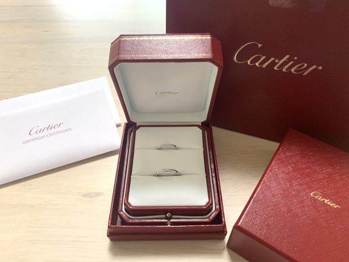 【カルティエ(Cartier)の口コミ】 婚約指輪と重ね付けをしたく、シンプルなデザインを選びました。ウェーブ…