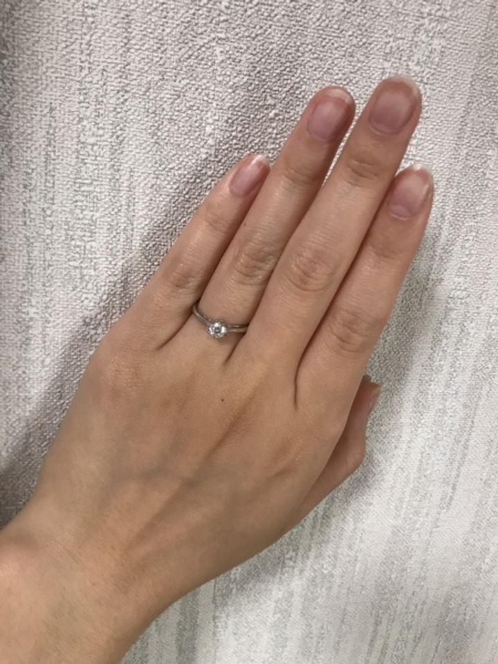 【LAPAGE(ラパージュ)の口コミ】 ダイヤの輝きの綺麗さとダイヤの大きさが大きかったこと。また横から見た…