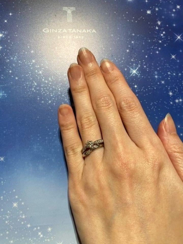 【ギンザタナカブライダル(GINZA TANAKA BRIDAL)の口コミ】 田中貴金属が母体のためプラチナはとても重厚感がありました。ダイヤモン…