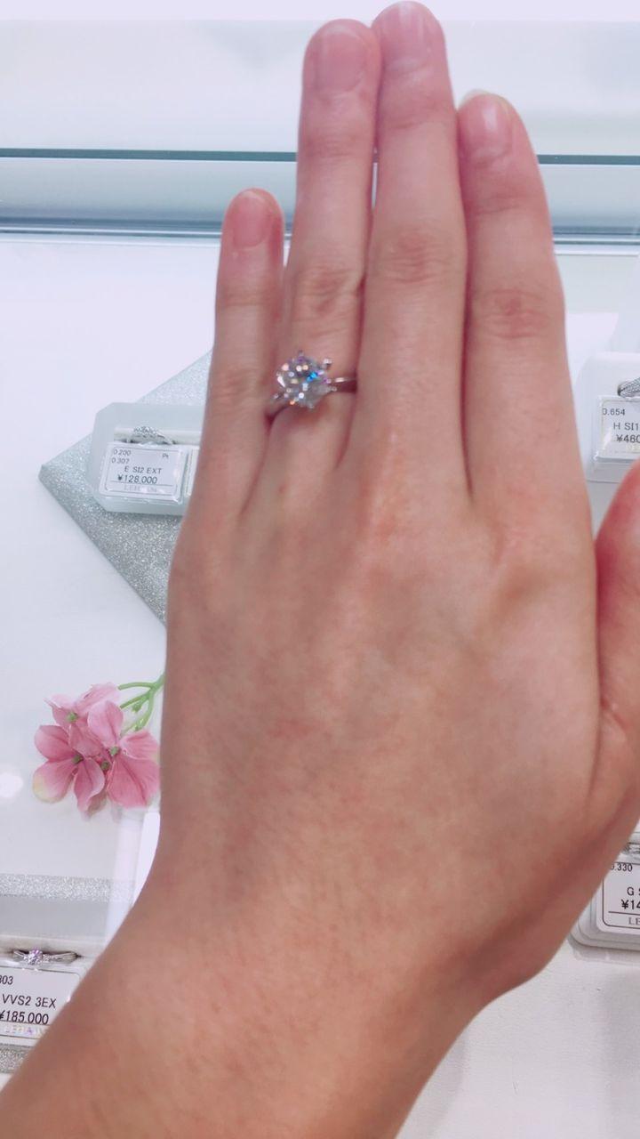 【LEHAIM(レハイム)の口コミ】 カラットが決め手!2.0カラットの指輪が見つかるとは思いませんでした。少…
