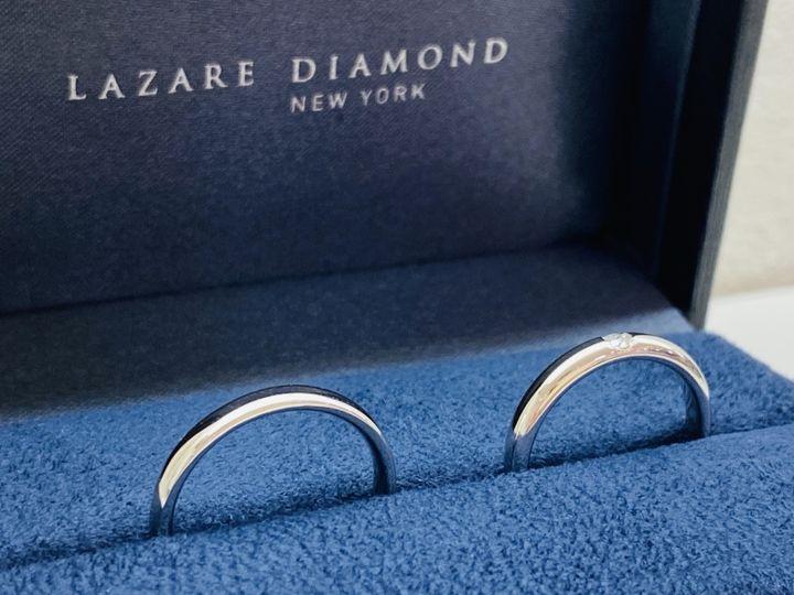 【ラザール ダイヤモンド【取扱店販売】の口コミ】 婚約指輪がラザールダイヤモンドだったので、「ぜひ結婚指輪も!」と思い…