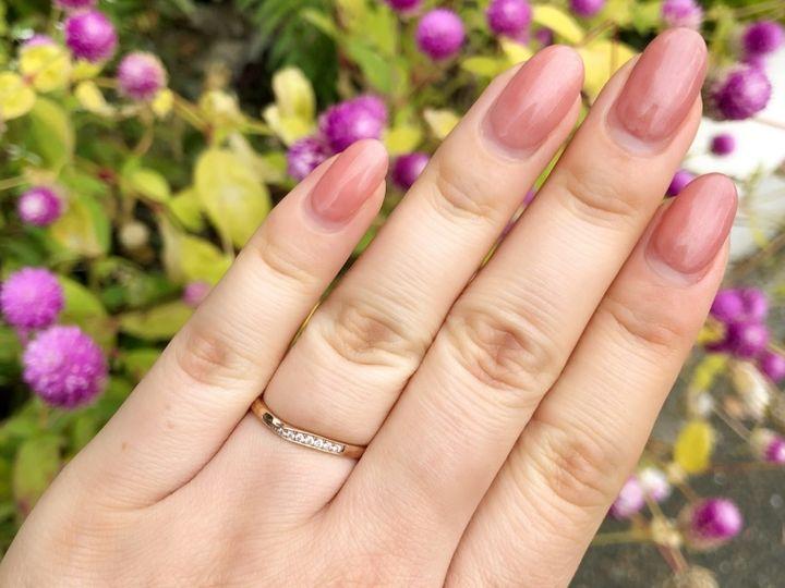 【BAUM(バーム)の口コミ】 来店前から結婚指輪はゴールド・ピンクゴールドでリングが太くない物にし…