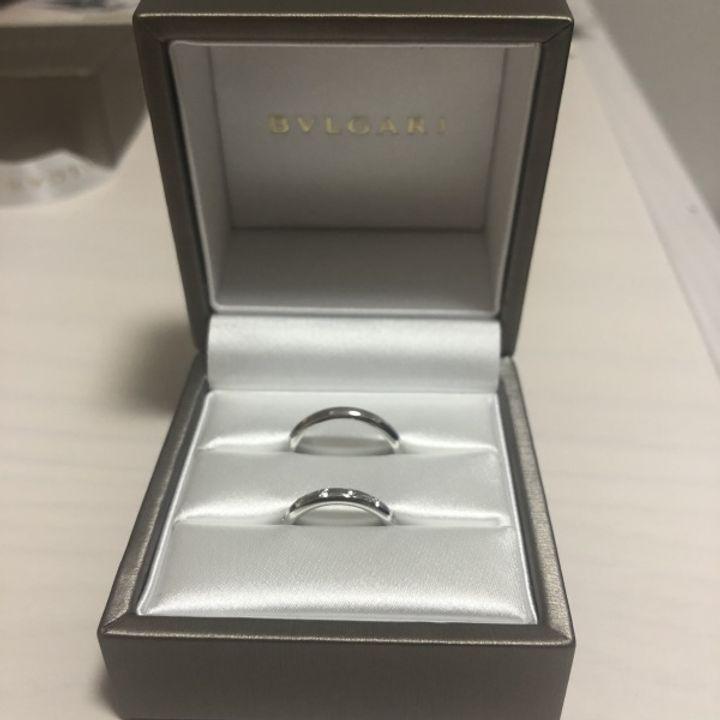 【ブルガリ(BVLGARI)の口コミ】 細めのデザインの指輪を探していたのですが、細めのデザインでダイヤモン…