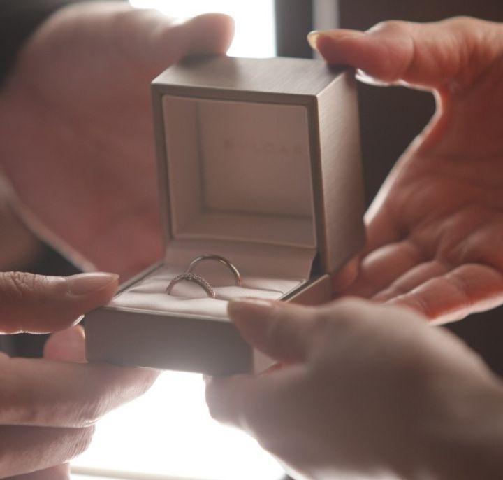 【ブルガリ(BVLGARI)の口コミ】 本命の指輪はいまいち似合わず、色々なブランドを見ていたところ HPの写真…