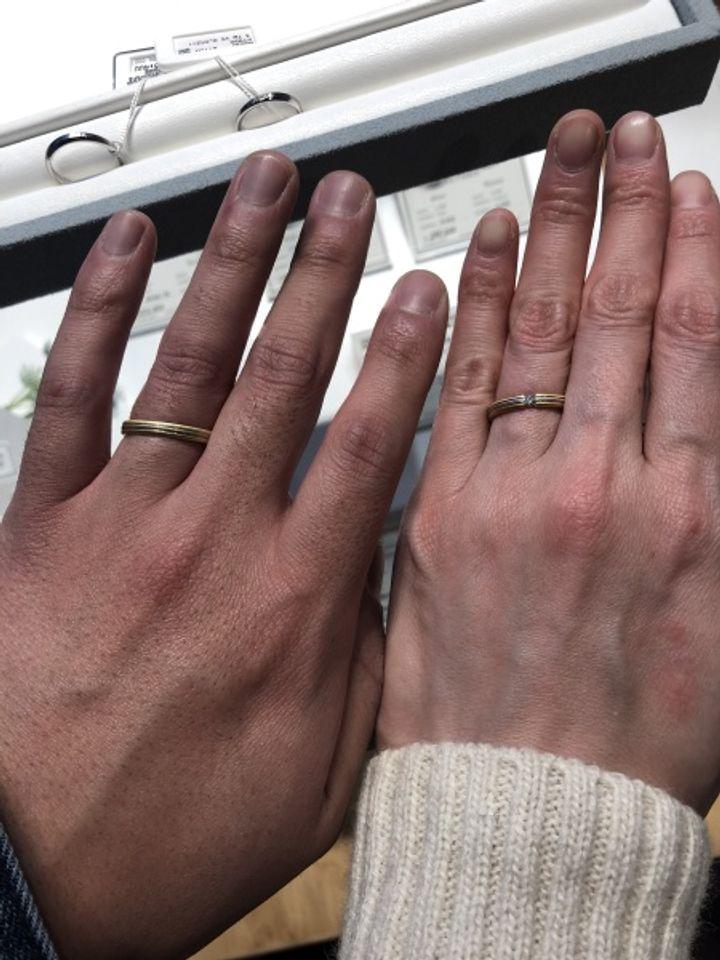 【フラー・ジャコー(FURRER-JACOT)の口コミ】 指輪はゴールドとプラチナが合わさったデザインです。つけ心地が良く、か…