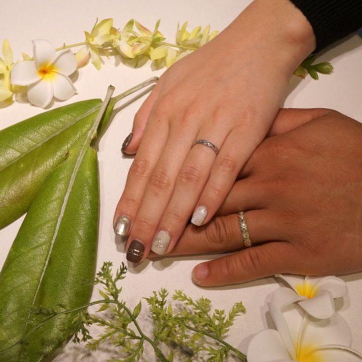 【PRIVATE BEACH(プライベートビーチ)の口コミ】 一生つける結婚指輪はハワイアンジュエリーが欲しくてInstagramで見ていた…