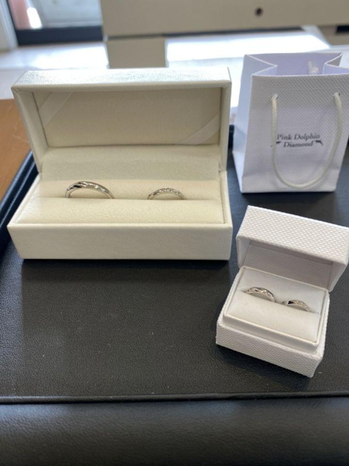 【Pink Dolphin Diamond(ピンクドルフィンダイヤモンド)の口コミ】 たくさんある指輪の中で、実際に手に取り店員さんと相談し決めていきまし…