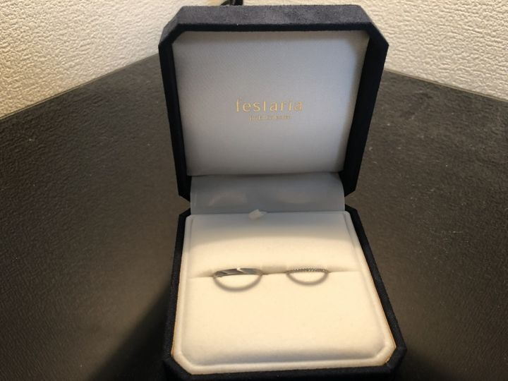【festaria bijou SOPHIA(フェスタリア ビジュソフィア)の口コミ】 エタニティリングが良かったのですが結婚指輪のラインに好みのものが見つ…