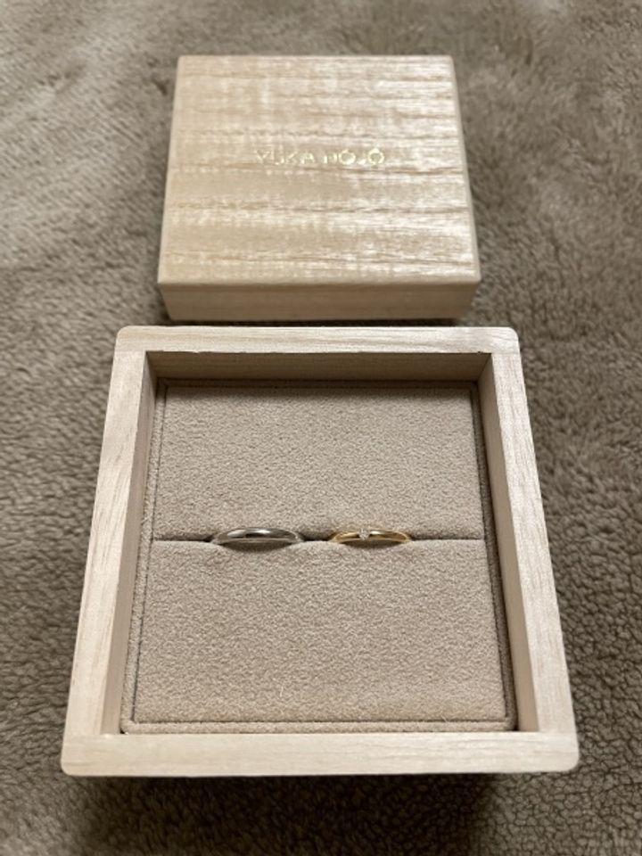 【YUKA HOJO jewelryの口コミ】 ゴールドでシンプルかつ他の人と被らない指輪を探していました。YUKA HOJO…