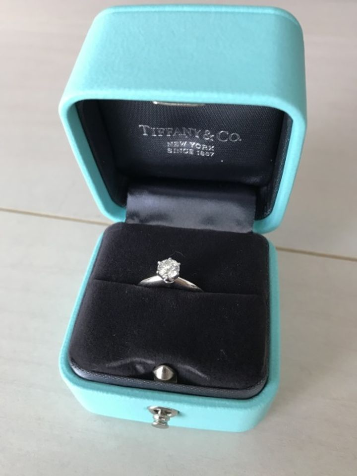 【ティファニー(Tiffany & Co.)の口コミ】 プロポーズをしてもらった後に、一緒に婚約指輪を選ぼうと言ってもらった…