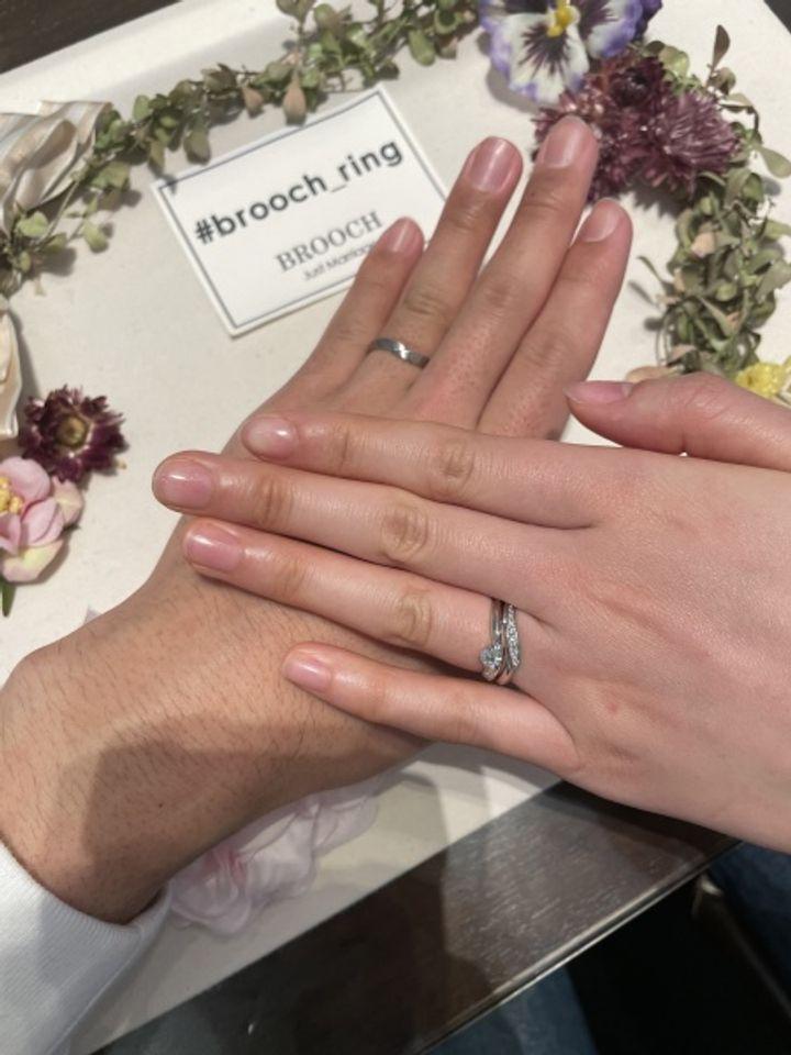 【LAPAGE(ラパージュ)の口コミ】 決め手のほとんどはひとめぼれでした!!指輪のデザインが、2人の好みにマ…