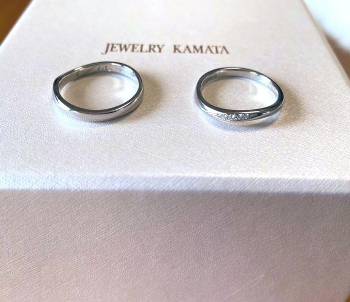 【JEWELRY  KAMATA(ジュエリーかまた)の口コミ】 指輪のデザインは、もともと欲しいと思っていたデザインに近いものがいく…