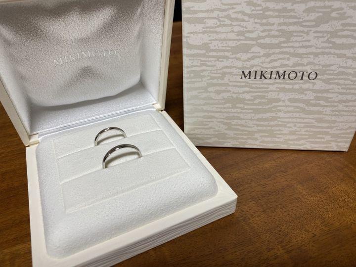 【MIKIMOTO(ミキモト)の口コミ】 指に1番よく馴染んだ2mmの指輪にしました。ダイヤはひとつだけ付いていて…