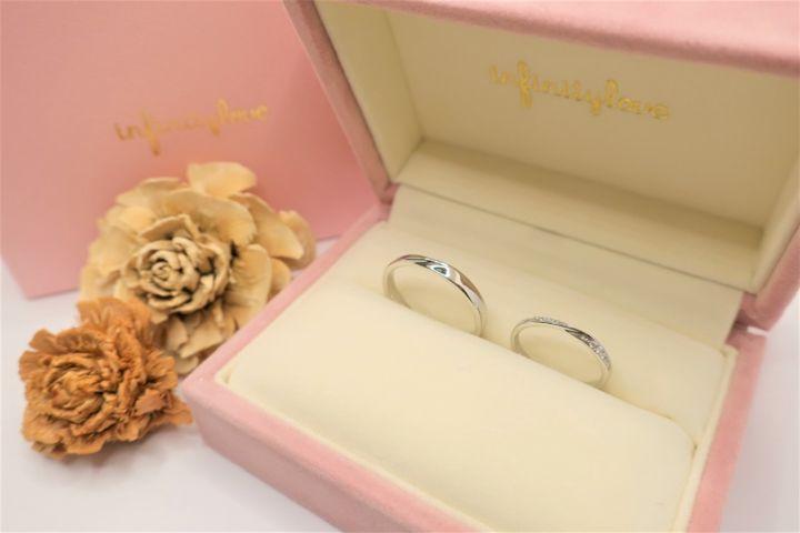 【BRIDGE(ブリッジ)の口コミ】 キラキラした結婚指輪をイメージしており、イメージしていたデザインだっ…