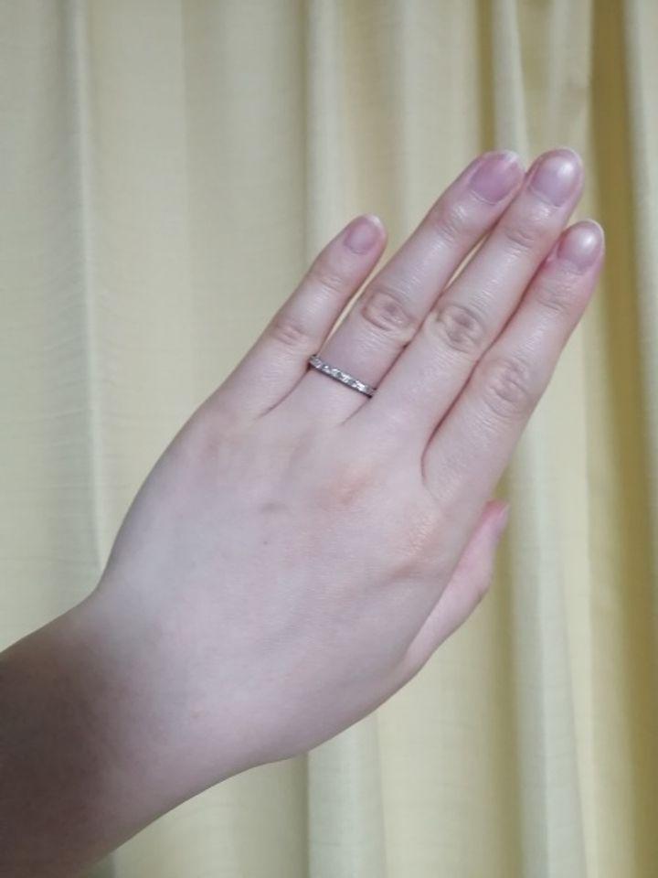 【Love Bond(ラブボンド)の口コミ】 ダイヤといえばキラキラとしたイメージですが透明感のある輝きに一目惚れ…