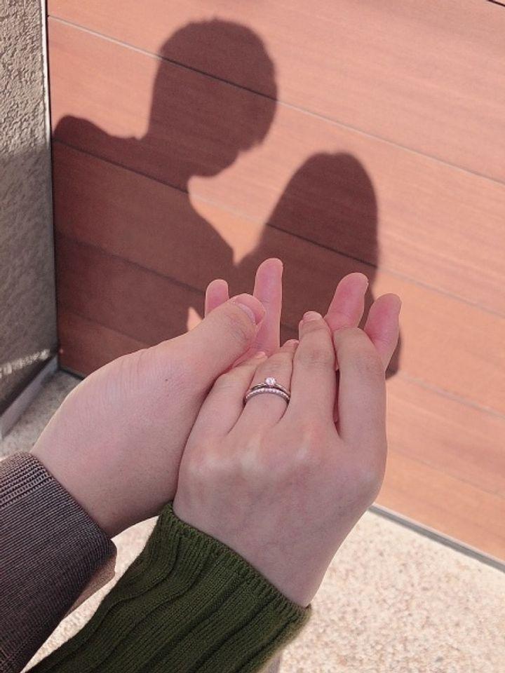 【Mil Eternity(ミルエタニティ)の口コミ】 私の手の形からまっすぐなシンプルの方が手が綺麗に見えるとアドバイスし…