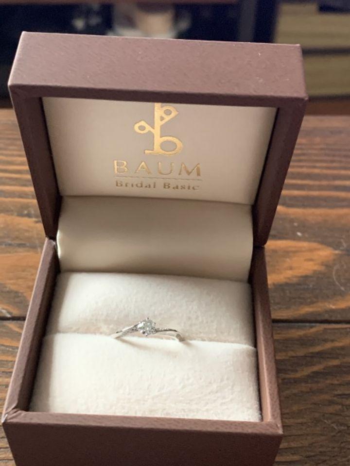 【BAUM(バーム)の口コミ】 婚約者とさまざまなお店でいろいろな指輪を見てきて、デザイン良さと価格…