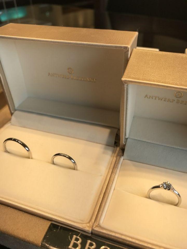 【ANTWERP BRILLIANT(アントワープブリリアント)の口コミ】 細身でシンプルな指輪の中でも、長く身につけることを考えて丈夫なものが…