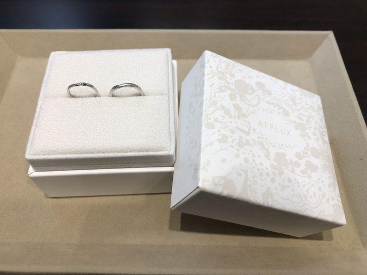 【AFFLUX(アフラックス)の口コミ】 店舗では多くの指輪を試着しましたが、デザインが一番気に入りました。ま…
