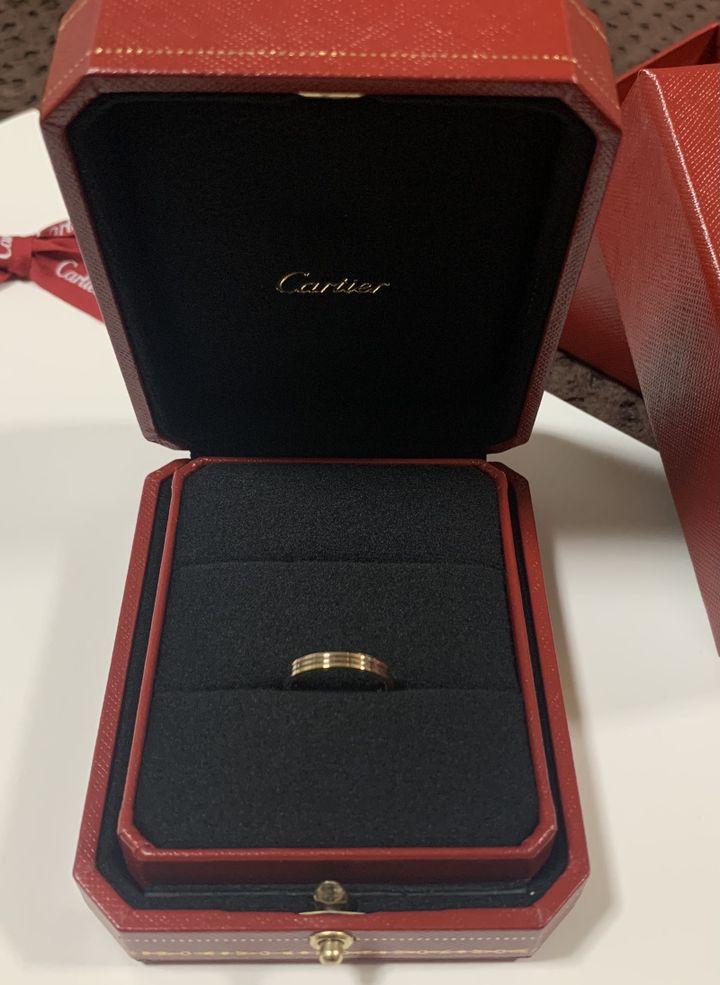 【カルティエ(Cartier)の口コミ】 イエローゴールドの指輪には憧れていたが、周りの人はだいたいプラチナだ…