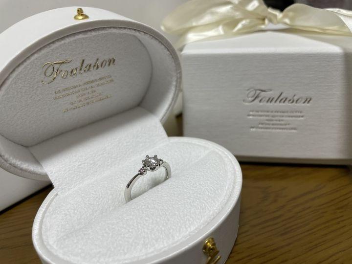 【Foulason(フレゾン)の口コミ】 たくさんの指輪のデザインを見せていただいた中で 1番に目に付いたもので…