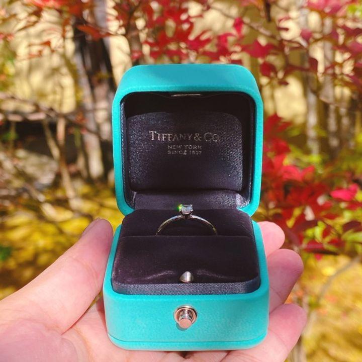 【ティファニー(Tiffany & Co.)の口コミ】 ずっと昔から憧れていたティファニーで婚約指輪を購入したいと思い、いろ…