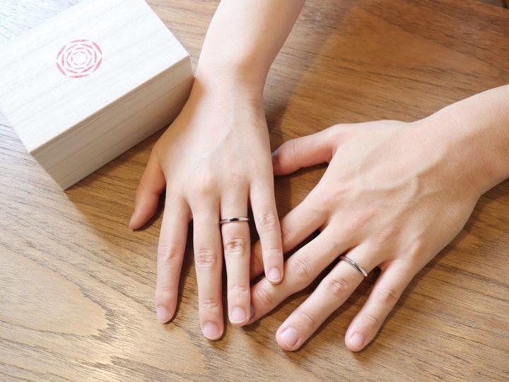 【出雲結(いずもゆい)の口コミ】 結婚指輪として、プラチナのシンプルな指輪が欲しいと思い入店しました。 …