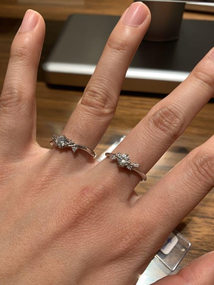 【CLEAR(クリア)by KAWASUMI の口コミ】 デザインが斬新で人と違った指輪をお好みという場合はすごくおすすめだと…