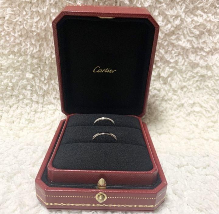 【カルティエ(Cartier)の口コミ】 太すぎず重すぎず、軽やかなフルエタニティのリングを探していました。こ…