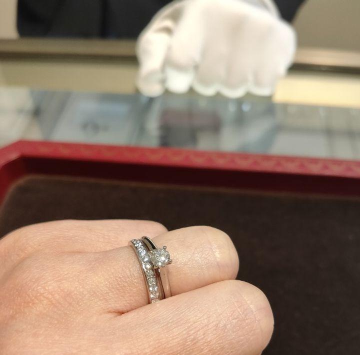 【カルティエ(Cartier)の口コミ】 カルティエの一粒ダイヤモンド、ソリテール1895を試着させていただきまし…