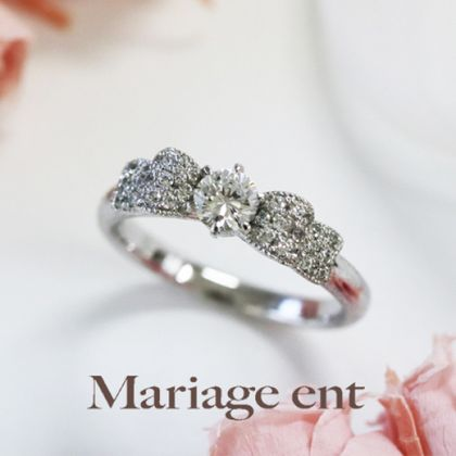 【Mariage ent(マリアージュエント)】シフォン【Chiffon:織物】0.2ct~