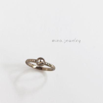 【mina.jewelry(ミナジュエリー)】まるみの可愛いエンゲージリング