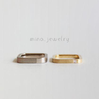 【mina.jewelry(ミナジュエリー)】シカクのマリッジリング