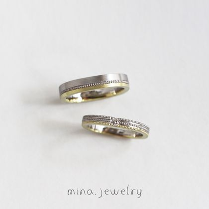 【mina.jewelry(ミナジュエリー)】ミルグレインが主役のマリッジリング