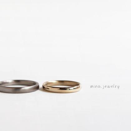 【mina.jewelry(ミナジュエリー)】シンプルな中にもこだわりのあるマリッジリング