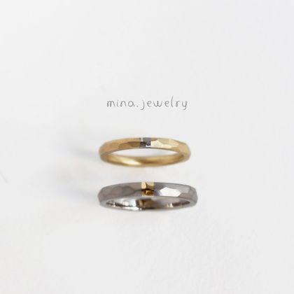 【mina.jewelry(ミナジュエリー)】お互いの色が輝くマリッジリング