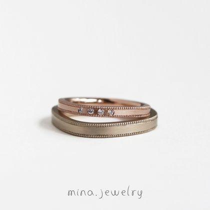 【mina.jewelry(ミナジュエリー)】緩やかなカーブを活かしたマリッジリング