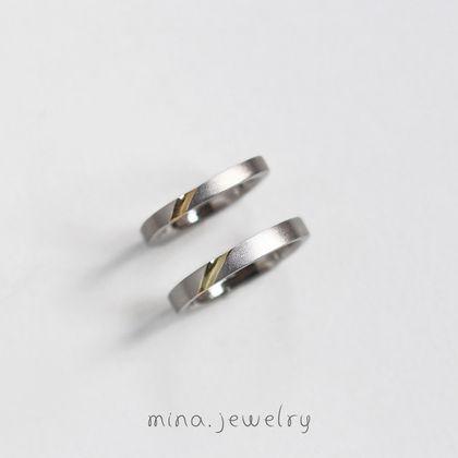 【mina.jewelry(ミナジュエリー)】プラチナの中から個性がキラリと輝くマリッジリング