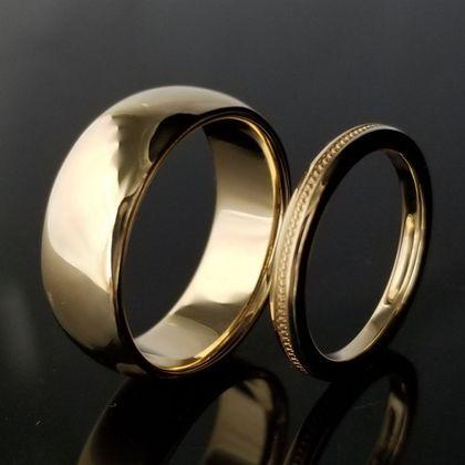 【TANZO(タンゾウ)】ゴールドが輝き重厚で高級感のある結婚指輪