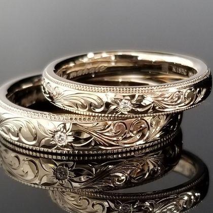 【TANZO(タンゾウ)】コーラルゴールドでオーダーメイドした結婚指輪