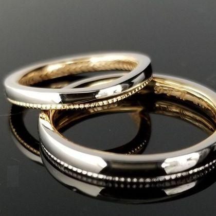 【TANZO(タンゾウ)】縁起の良いミル打ちデザインをあしらった結婚指輪