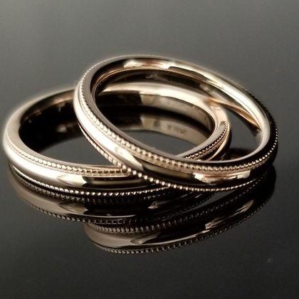 【TANZO(タンゾウ)】淡い桜色のぷっくりデザインの結婚指輪