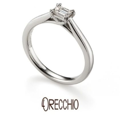 【ORECCHIO(オレッキオ)】ゲットウ~婚約指輪 シンプルなデザインだからこそ側面から見た時の拘りのデザイン