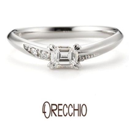 【ORECCHIO(オレッキオ)】ネロリ~婚約指輪と結婚指輪の重ね着けでハートが浮かぶエレガントな婚約指輪