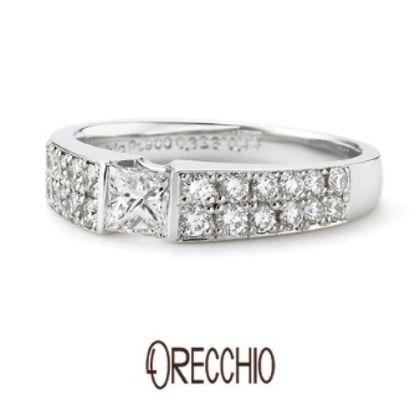 【ORECCHIO(オレッキオ)】<monaco~モナコ> ME-1005 指輪全体に散りばめられたダイヤがエレガントな婚約指輪