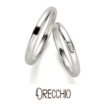 【ORECCHIO(オレッキオ)】<aman~アマン>AM-2309/AM2310 細身でマットなアームにバゲットカットダイヤがアクセントの結婚指輪