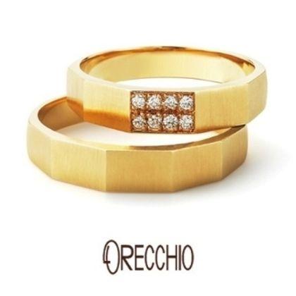 【ORECCHIO(オレッキオ)】<safari~サファリ>FM-2205/FM2206 結婚指輪 エッジのきいたフォルムが男性にも大人気!