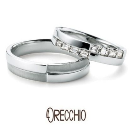 【ORECCHIO(オレッキオ)】<siena~シエナ>SM-2105/SM-2106 幅のあるデザインとテクスチャーで存在感あふれる結婚指輪