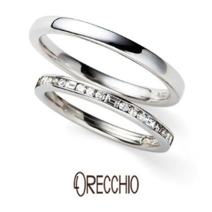 【ORECCHIO(オレッキオ)】<siena~シエナ>SM-2111/PM-2401 四角いダイア×丸いダイアをセッティングしたエタニティタイプの結婚指