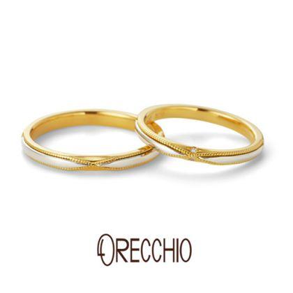 【ORECCHIO(オレッキオ)】セグイド~seguido クロスに走るミルグレインが指元を華やかに演出する結婚指輪